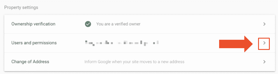 Google Search Console users and permissions