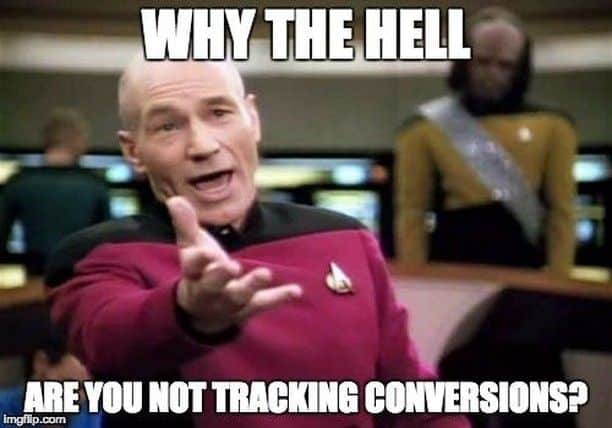 not tracking conversion