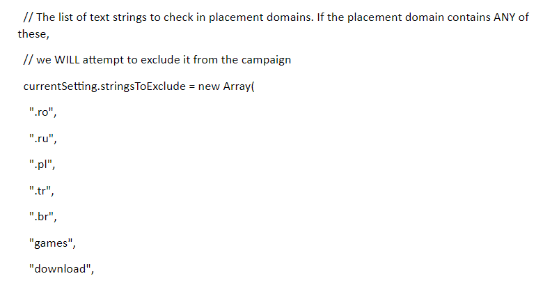 placement audit script