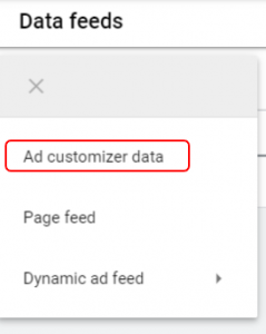 ad customizer step 2