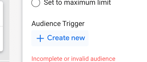 audience trigger
